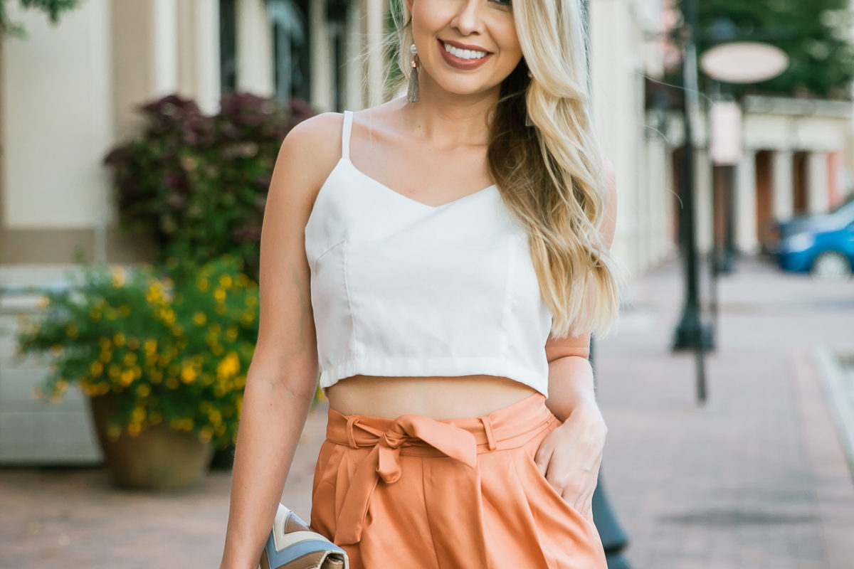 Orange High-Waisted Pants